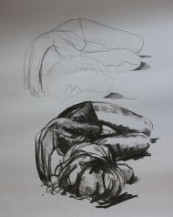 pencil and charcoal