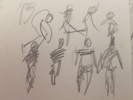 quick sketches at a dance show