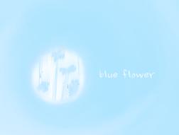 hazy blue flower