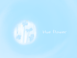 hazy blue flower